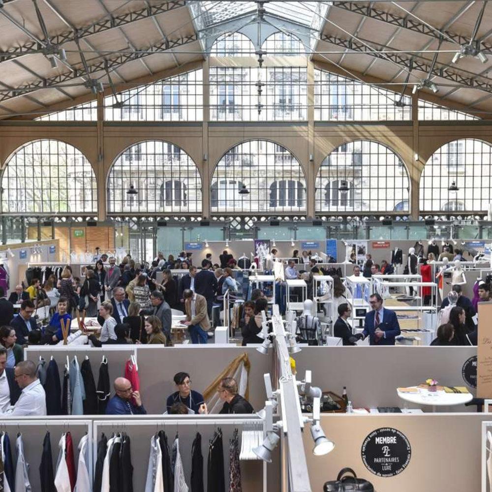 Prise de vue aérienne des Rencontres du Made in France auxquelles participe l'Institut Français de la Mode